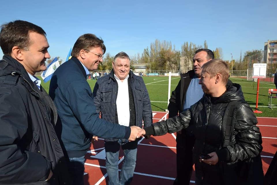 На Херсонщині відкрили легкоатлетичну арену