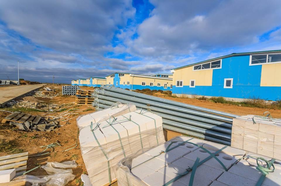риває будівництво стаціонарного табору на полігоні
