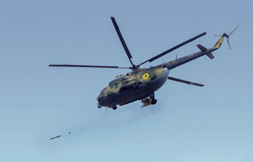 Проведені випробувальні стрільби української ракети Р-2В з гелікоптера Мі-8МСБ-В