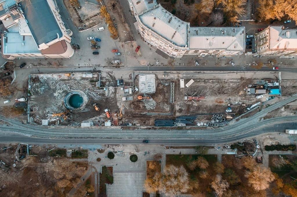 Будівництво метро в Дніпрі з висоти пташиного польоту